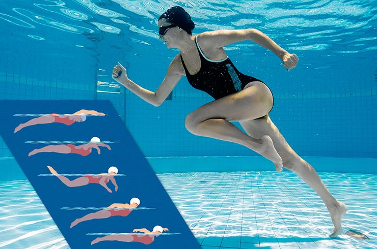 научиться плавать быстрее