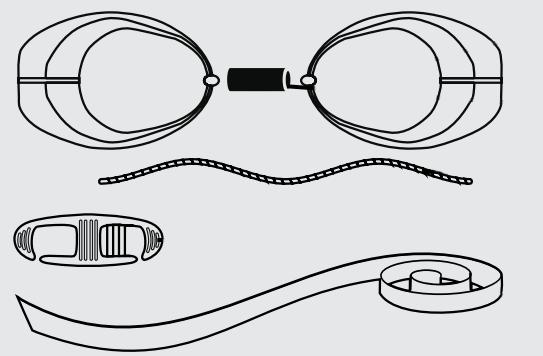 Стартовые очки для плавания схема