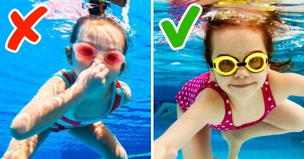 ошибки при обучении ребёнка плаванию