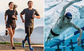 как совместить бег и плавание